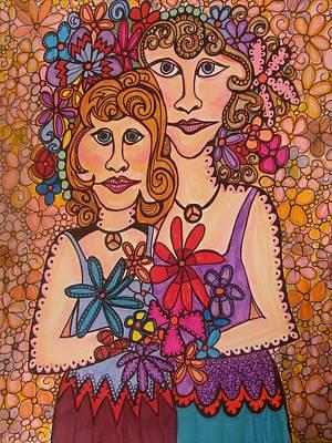 Sisters Of Peace  Print by Gerri Rowan