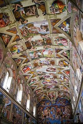 Vatican Photograph - Sistine Chapel Ceiling. by Mark Williamson