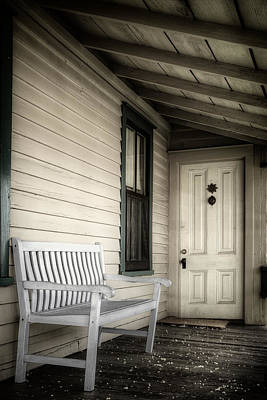 Benches Photograph - Sit Awhile by Joan Carroll