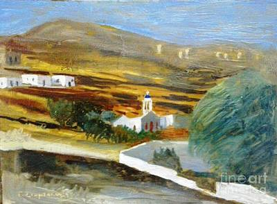 Site From Tinos Island Print by George Siaba