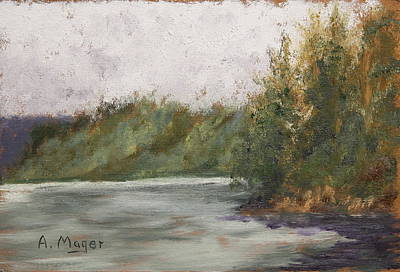 Sitka Painting - Sitka Mist by Alan Mager