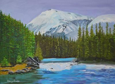 Sitka Painting - Sitka Waterfall by Sally Jones