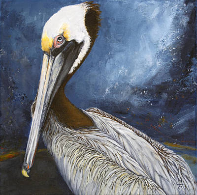 Animal Portraits Painting - Sittin' On The Dock Of The Bay by Tracy Anderson