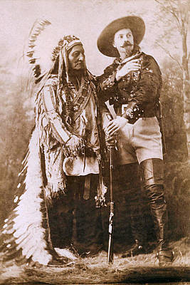 Indian Warrior Photograph - Sitting Bull And Buffalo Bill by Unknown