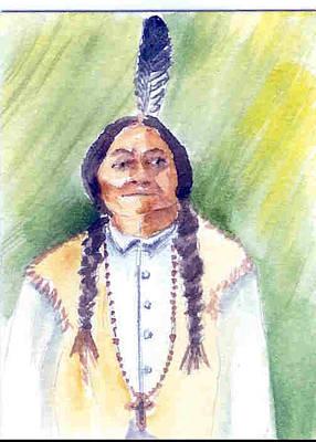 Sitting Bull Original by Joann Y Wheeler