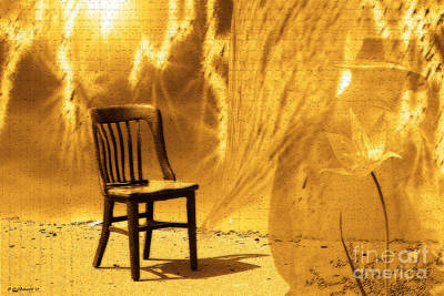 Empty Chairs Digital Art - Sitting On Edge by Cathy  Beharriell