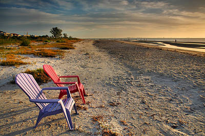 Empty Chairs Photograph - Sitting Pretty by Steven Ainsworth