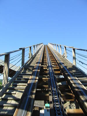 America Photograph - Six Flags America - Roar Roller Coaster - 12121 by DC Photographer
