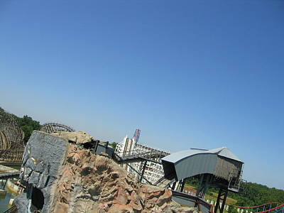 America Photograph - Six Flags America - Wild One Roller Coaster - 12125 by DC Photographer