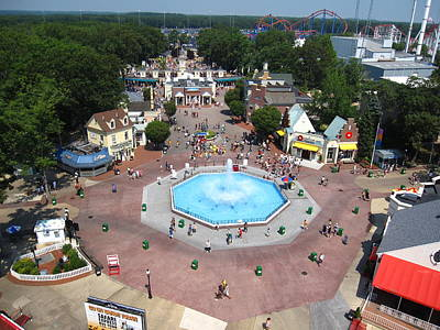 Jackson Print featuring the photograph Six Flags Great Adventure - 12126 by DC Photographer
