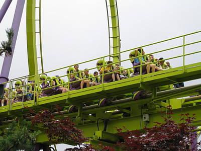 Medusa Photograph - Six Flags Great Adventure - Medusa Roller Coaster - 12121 by DC Photographer