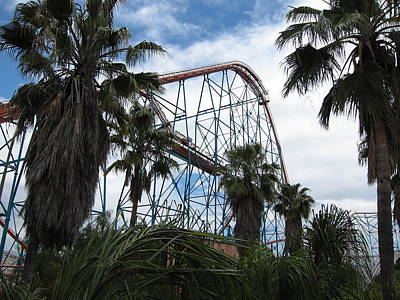 Six Flags Magic Mountain - 12129 Print by DC Photographer