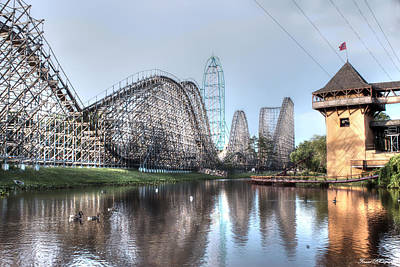 Rollercoaster Photograph - Six Flags New Jersey by Debra Forand
