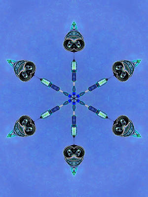 Six Heads Are Better Than One - Blue Print by Wendy J St Christopher