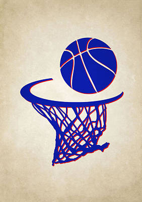 Sixers Team Hoop2 Print by Joe Hamilton