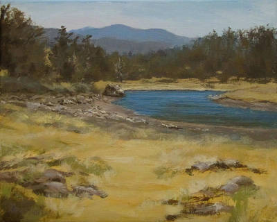 Oregon Painting - Sixes River by Karen Ilari