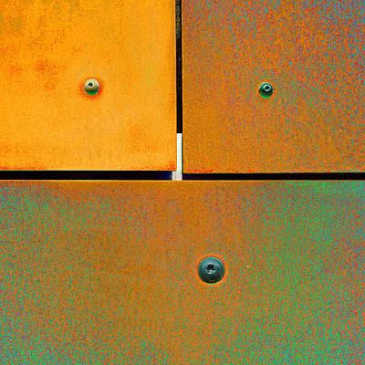 Abstract Photograph - Sixteen Seventeen Eighteen - Colorful Rust - Orange Green by Menega Sabidussi