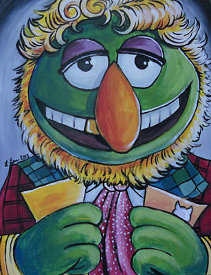 Muppets Painting - Sixth Doctor Dr. Teeth  by Lisa Leeman
