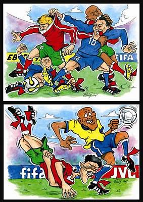 Sixth Page Of Comics About Eurofootball Original by Vitaliy Shcherbak