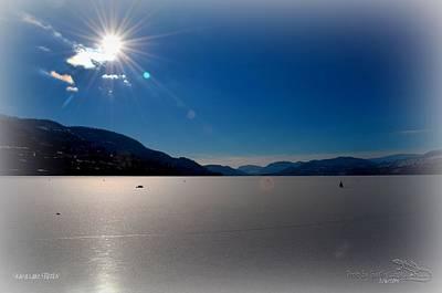 Lake Photograph - Skaha Lake Frozen 02-06-2014 by Guy Hoffman