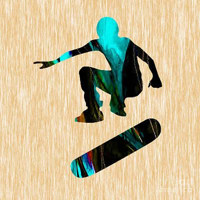 Skateboarder Art Print by Marvin Blaine