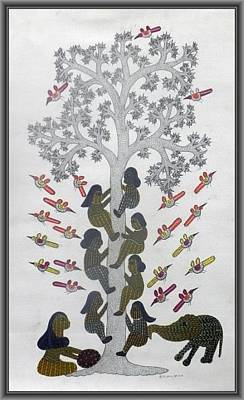 Gond Tribal Art Painting - Skd 07 by Suresh Kumar Dhurve