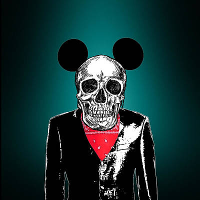 Clown Photograph - Skeleton 2 by Mark Ashkenazi