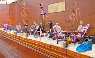 Human Skeleton Digital Art - Skeleton Keys by Betsy Knapp