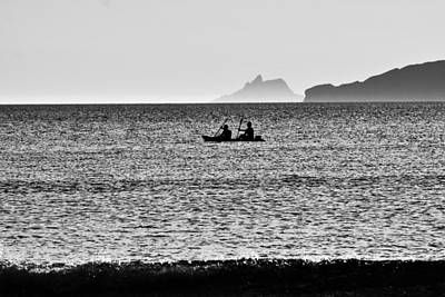 Skellig Islands Boatmen Print by Aidan Moran