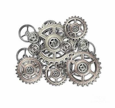 Sketch Of Machinery Print by Michal Boubin