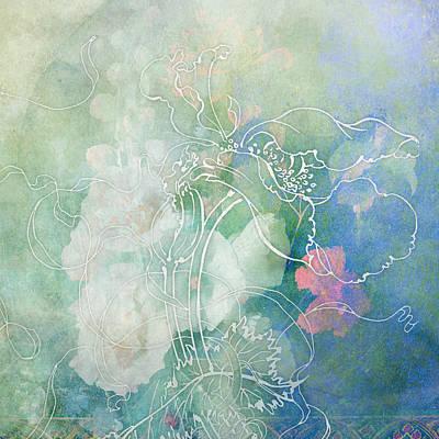 Sketchflowers - Hollyhock Print by Aimee Stewart