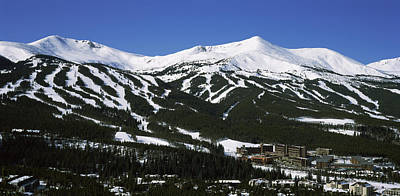 Summit County Colorado Photograph - Ski Resorts In Front Of A Mountain by Panoramic Images