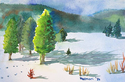 Ski Season Print by Melanie Harman
