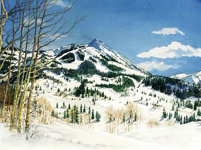 Skiers Paradise Print by Barbara Jewell