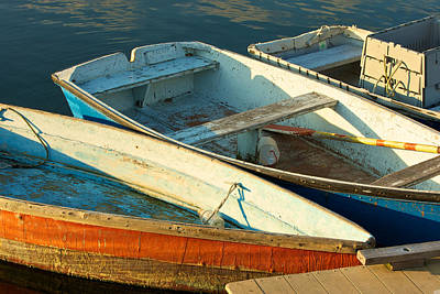 Photograph - Skiffs Rockport Harbor by Gail Maloney