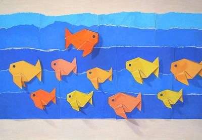 Fish Painting - Skipping School by Teresa Tromp