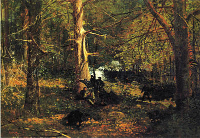 Autumn Scene Digital Art - Skirmish In The Wilderness by Winslow Homer