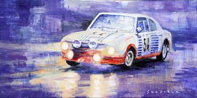 Carlos Painting - Skoda 130 Rs Rally Monte Carlo 1977 by Yuriy Shevchuk