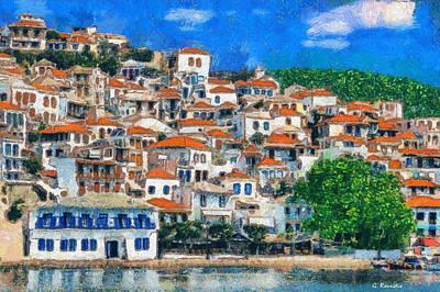 Landscape Painting - Skopelos by George Rossidis