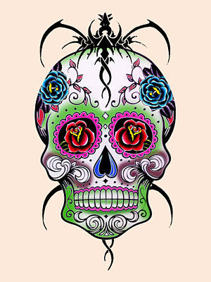 Skull 11 Print by Mark Ashkenazi
