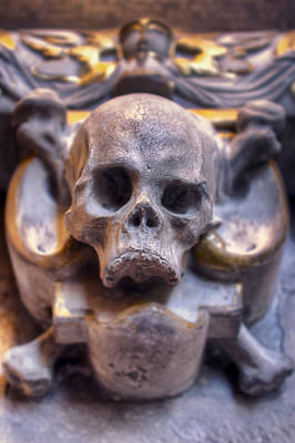 Punk Photograph - Skull And Bones by EXparte SE