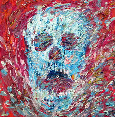 Shouting Painting - Skull And Scream 2012 by Fabrizio Cassetta