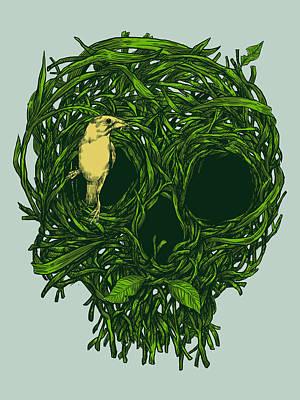 Digital Art - Skull Nest by Carbine