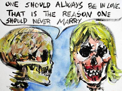 Skull Quoting Oscar Wilde.5 Print by Fabrizio Cassetta