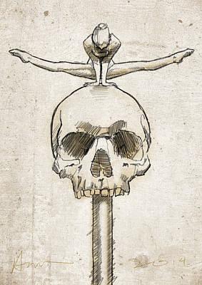 Skull Splits Print by H James Hoff