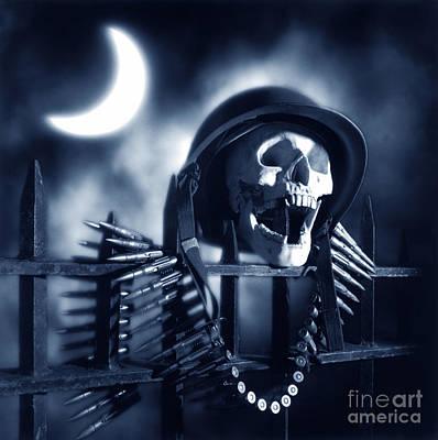 Skull Print by Tony Cordoza