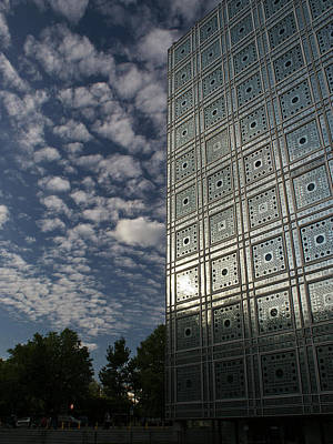 Sky And Building Print by Gary Eason