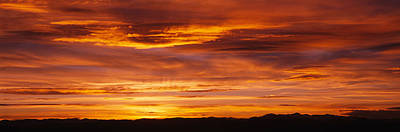Romantic Location Photograph - Sky At Sunset, Daniels Park, Denver by Panoramic Images