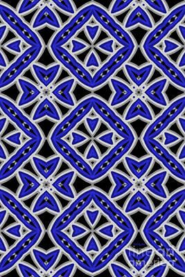 Fractal Digital Art - Sky Blue II by Tatjana Popovska