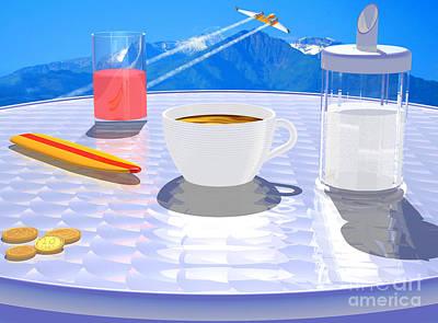 Alpine Digital Art - Sky Cafe by Andreas Thust